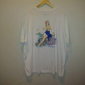 Tommy Bahama Graphic White Tee Shirt